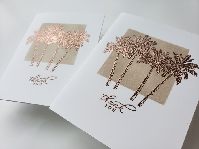 Heat Embossing On Cards Technique and Tutorial Video Using The Stampin' Up! Timeless Tropical Stamp Set