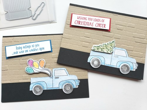 YouTube Card Tutorials - Stampin' Up! Ride With Me Stamp Set and Truck Ride Dies
