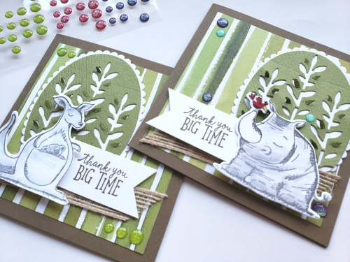 YouTube Card Tutorials - Stampin' Up! Animal Outing Stamp Set and Animal Friends Dies