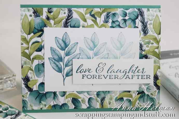 Simple and Pretty Fern Card Idea Using The Stampin Up Forever Fern Stamp Set and Forever Greenery Designer Paper