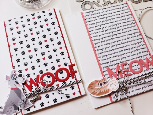 Adorable dog and cat card ideas using the Stmapin Up Playful Pets product suite and Pampered Pets stamp set
