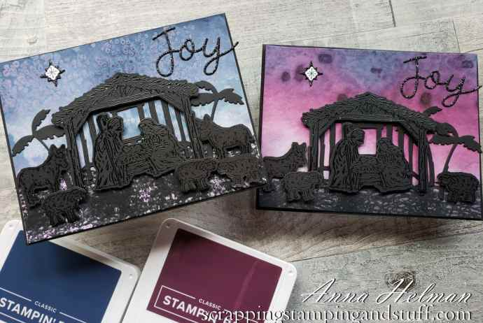 Join in for this amazing watercolor Christmas card tutorial using the Stampin Up Peaceful Nativity bundle, and see exactly how to make this gorgeous one-of-a-kind watercolor silhouette card.
