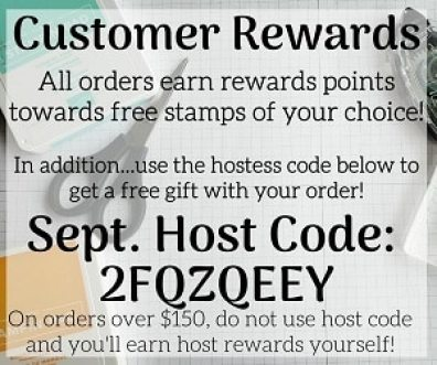 Stampin Up Hostess Code - Customer Rewards - Free Gift With Order