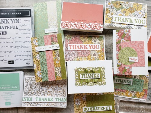 Join in to make 10 different simple cards using the Stampin Up Ornate Garden product suite. Watch along as I design these cards and share helpful crafting tips!