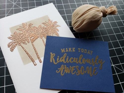 Learn how to make a DIY embossing buddy using pantyhose and cornstarch to prevent excess embossing powder from sticking to your paper projects.