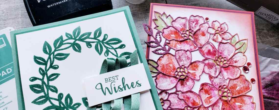 Use this simple trick and materials already in your stamping collection to heat emboss in any color!