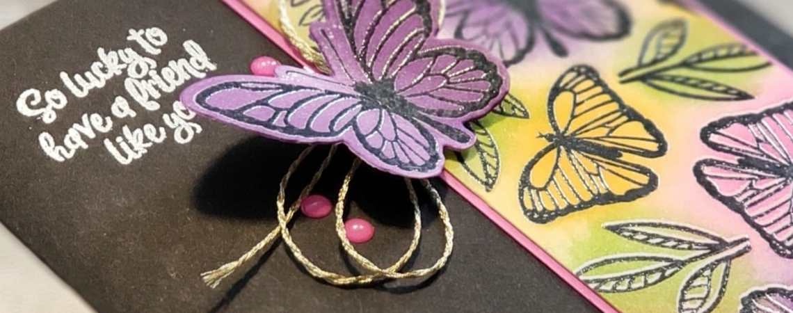 The Stampin Up Floating And Fluttering bundle includes gorgeous butterflies to use on your cards and other paper projects.