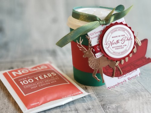 Today is Day 2 of 12 Days of DIY Gift Ideas, and we are making a decorated mini coffee cup - fill it with fun treats or a gift card!