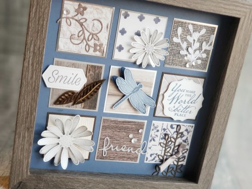 For Day 4 of 12 Days of DIY Gift Ideas, we are making this beautiful shadow box sampler with just paper, ink, and a few tools!