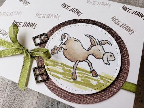 Get entered to win the Stampin Up Darling Donkey or get it free right now with your product order during Sale-a-bration!