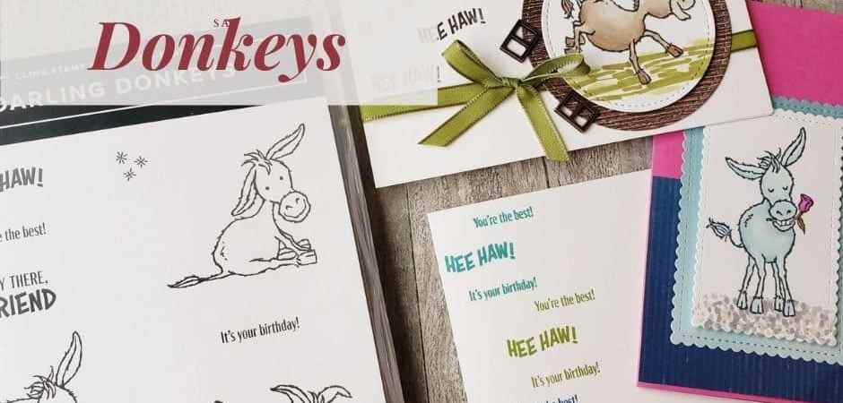 Get entered to win the Stampin Up Darling Donkeys or get it free right now with your product order during Sale-a-bration!