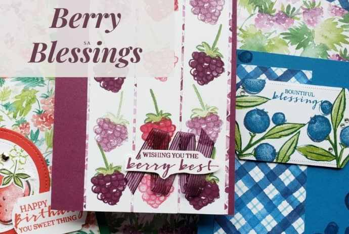 Get entered to win the Stampin Up Berry Blessings AND paper pack or get it free right now with your product order during Sale-a-bration!
