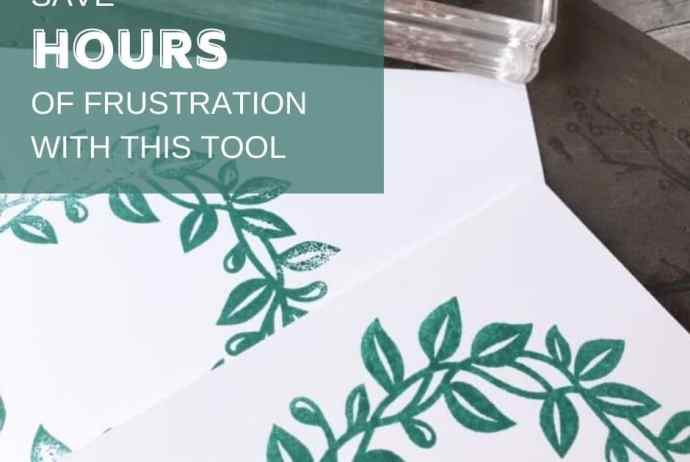 Save hours of frustration in your craft room with this one little card making tool - the Stampin Pierce Mat!