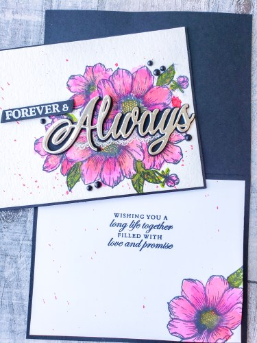 A gorgeous watercolor wedding card idea using the Stampin Up Forever & Always bundle in the 2021 January-June Mini
