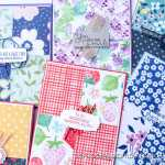 This simple quadrant card design allows you to use BOTH sides of your pretty patterned papers! You no longer have to choose one side or the other!