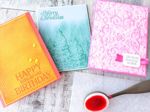 Have you ever combined blending brushes and embossing on your card projects? This technique is simple to use, and makes for stunning projects.