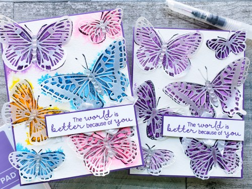 Description and Yoast SEO Snippet: Try out these 7 ways to use Shimmer Paint by Stampin Up on your card making projects.