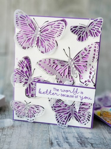 Learn how to make this beautiful watercolor butterfly card using the Stampin Up Butterfly Brilliance set! It's so gorgeous!