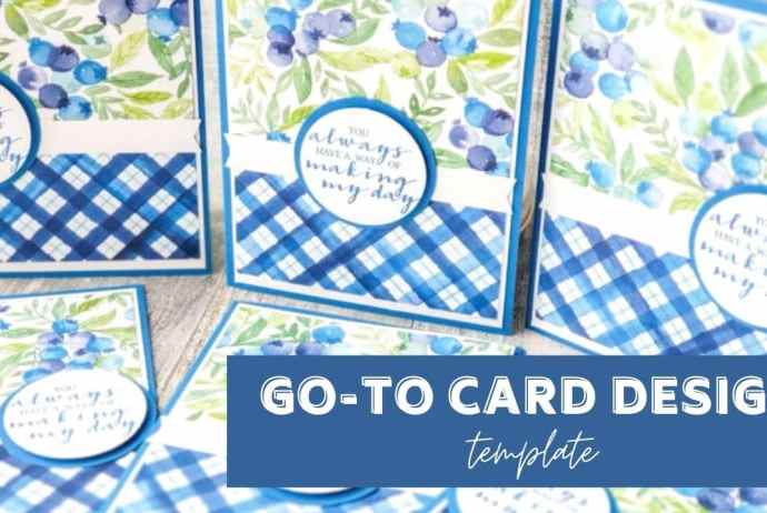 This awesome, go-to card design is perfect for quick and beautiful cards. Try it today!
