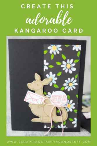 Take a look at this fund and adorable kangaroo card made with the Stampin Up Kangaroo & Company stamp set!