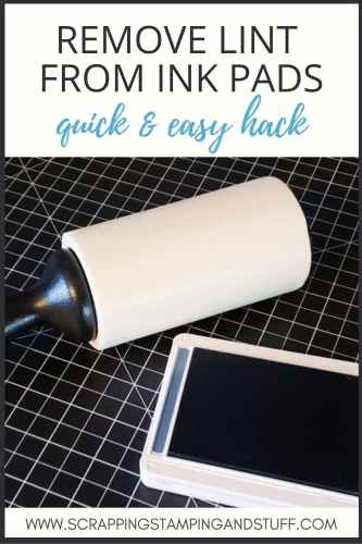 Remove lint from ink pads fast with what you say? A lint roller? Try this trick today and clean up those messy pads!