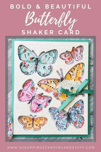 Learn to make this gorgeous butterfly shaker card using the Stampin Up Butterfly Brilliance bundle!