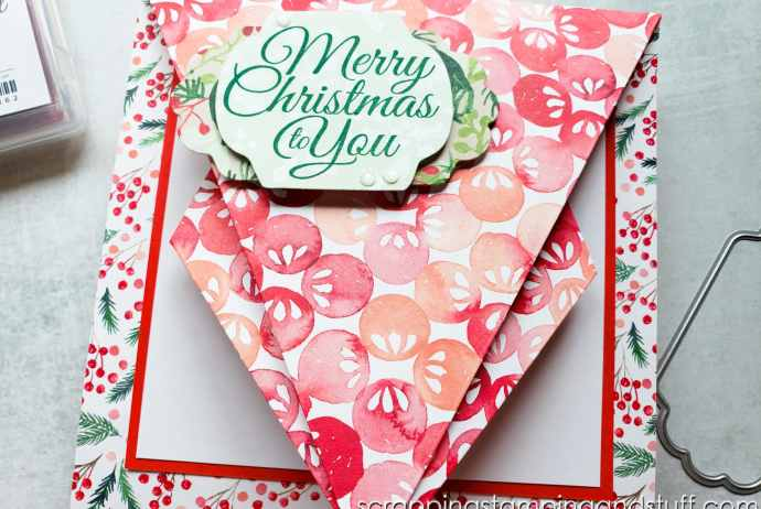 This arrow fold card design is such a fun card fold to try, plus it's a great way to use up the paper in your stash!