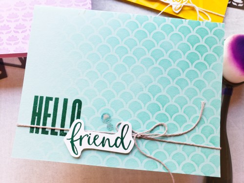 Learn how to use stencils for cardmaking! You'll love these simple card backgrounds using the Stampin Up Biggest Wish stamp set!