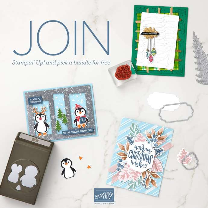 Join Stampin Up during Sale-a-bration and choose $125 in products for just $99 PLUS a free bundle of your choice!