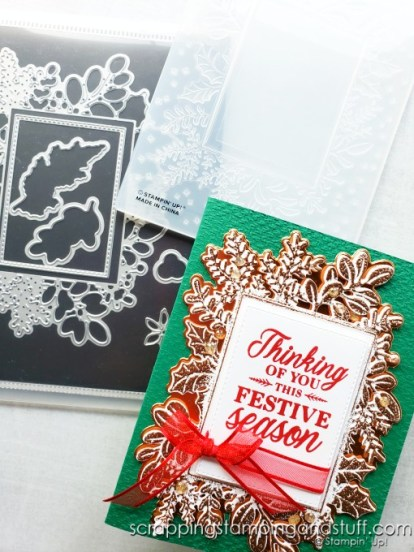 Try heat embossing over dry embossing on your card projects for beautiful textured effects!
