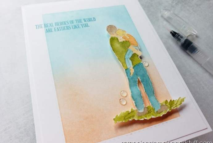 Clean and Simple Watercolor Father's Day Card Using Stampin Up A Good Man