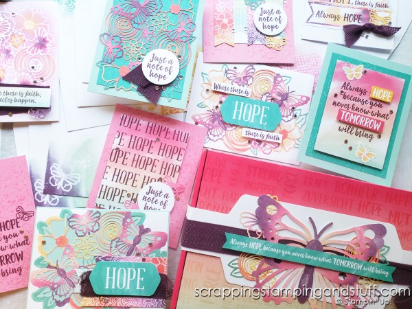 August 2021 Paper Pumpkin - Hope Box - Card Subscription Kit From Stampin Up Awesome Thinking Of You Card Kit