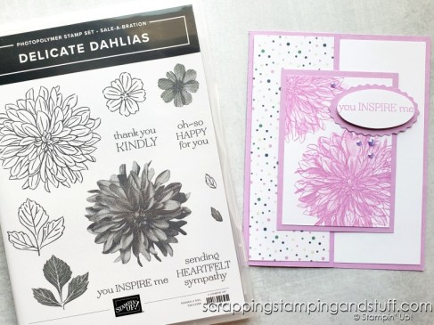 Click here for details on this simple card for replicating using the Stampin Up Art Gallery stamp set!