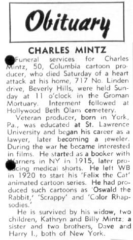 Charles Mintz obituary