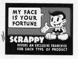 Scrappy sticker