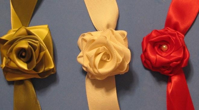 4, 5 and 6-fold ribbon roses