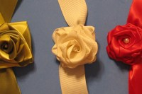 4, 5 and 6-fold ribbon roses