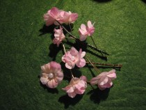 Pretty Pink Floral Bobby Pins