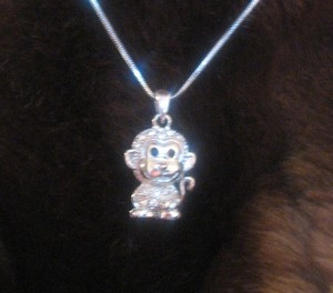 Sparkly Monkey Necklace
