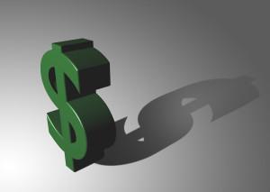 Dollar sign casting a long shadow