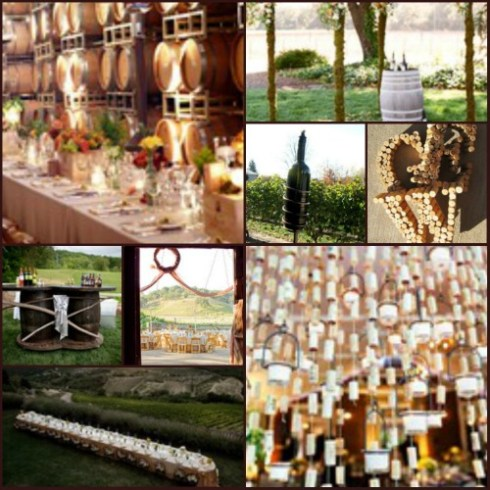 Collage of wine-themed images