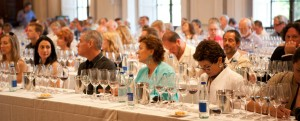 people at a wine tasting in Italy