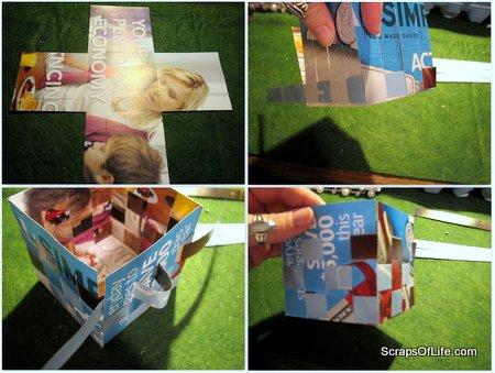 4 steps to a pretty paper basket