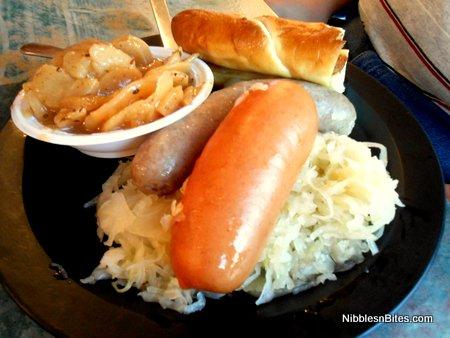 German Sausage Sampler from European Street Cafe