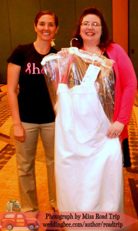With my dress and my wonderful Personal Shopper (wish I could remember her name!)