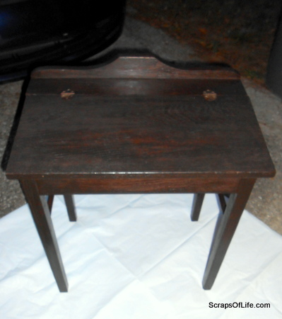 Antique Wooden School Desk Stained but not Varnished