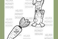 "March Hare Digital Stamp Duo by Jennifer ""Scraps"" Walker"