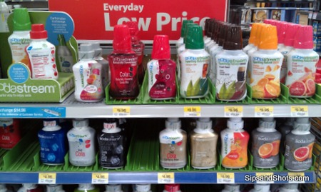 the syrup display at our local walmart - Sodastream Reviews
