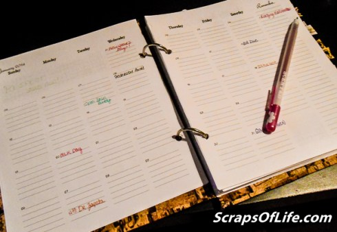 New month, new year, new planner!