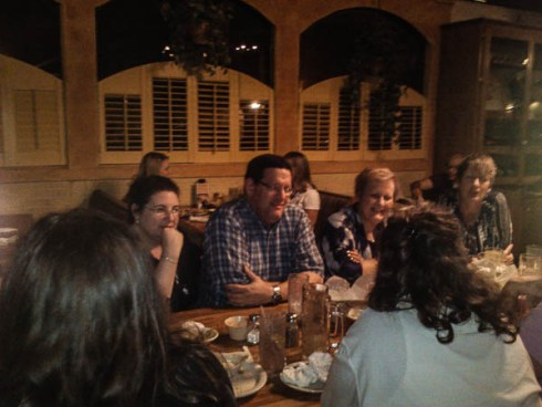 I wasn't kidding when I said we were truly the sit around and talk sort--we must have spent 3 hours at dinner.